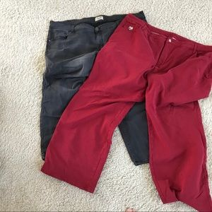 TWO pair jeans, sz 28